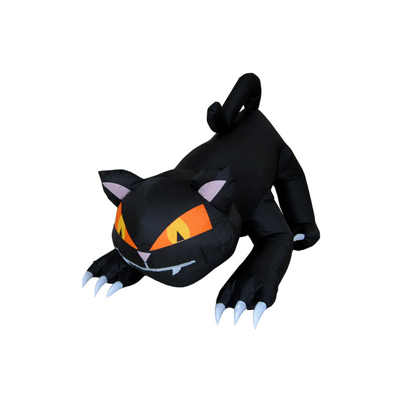 Animated inflatable Halloween black Cat Rotating Head for decoration YL3008QHW-40