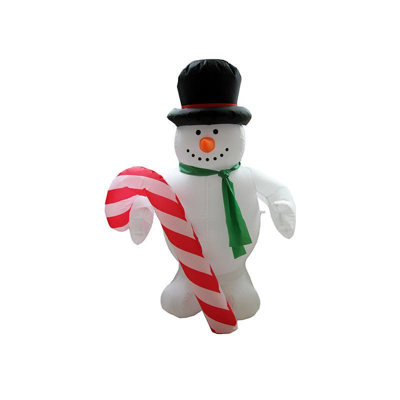Christmas inflatable Snowman w/ Candy cane FL18QX-127