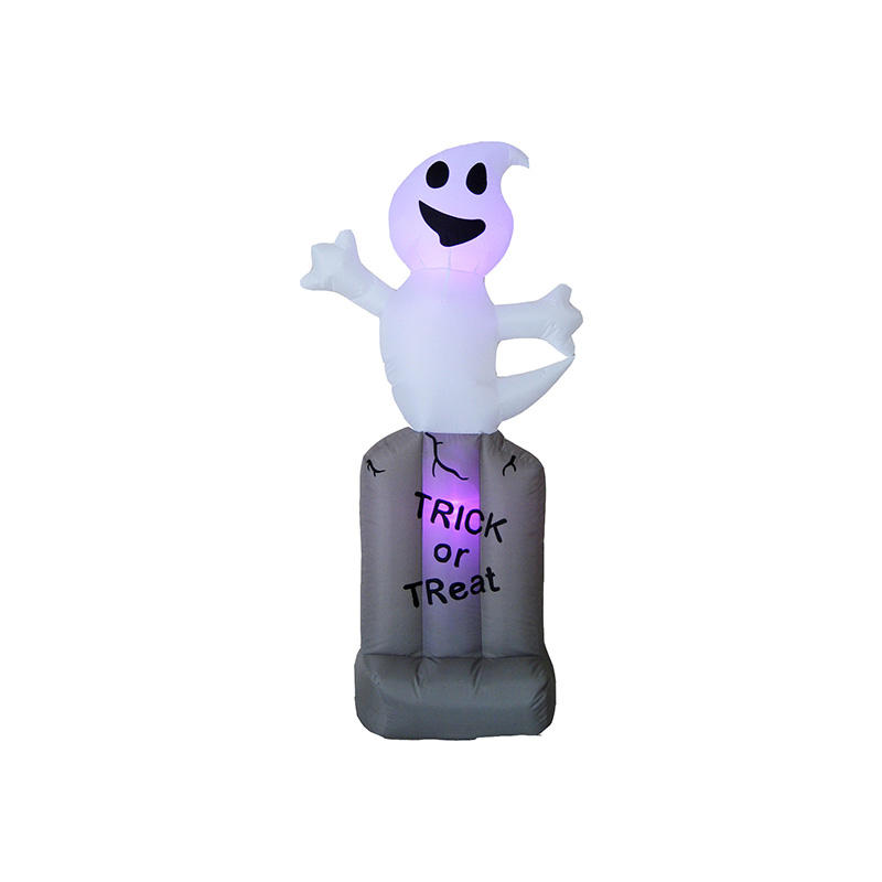 Halloween Inflatable white Ghost on Tombstone FL19QHW-54