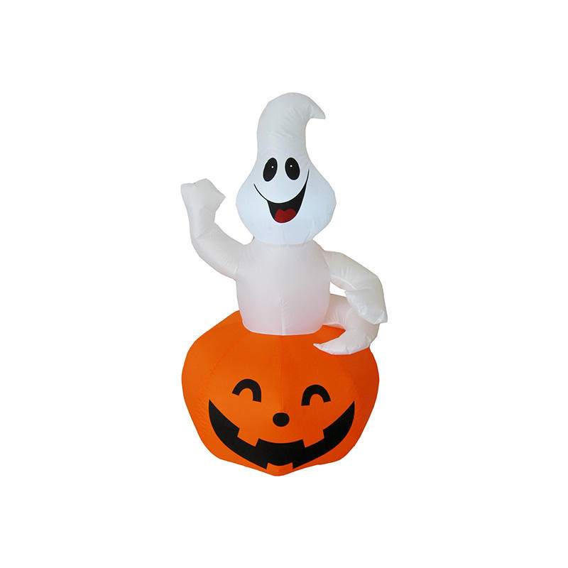 Happy Halloween inflatable white Ghost in Pumpkin FL19QPG-10