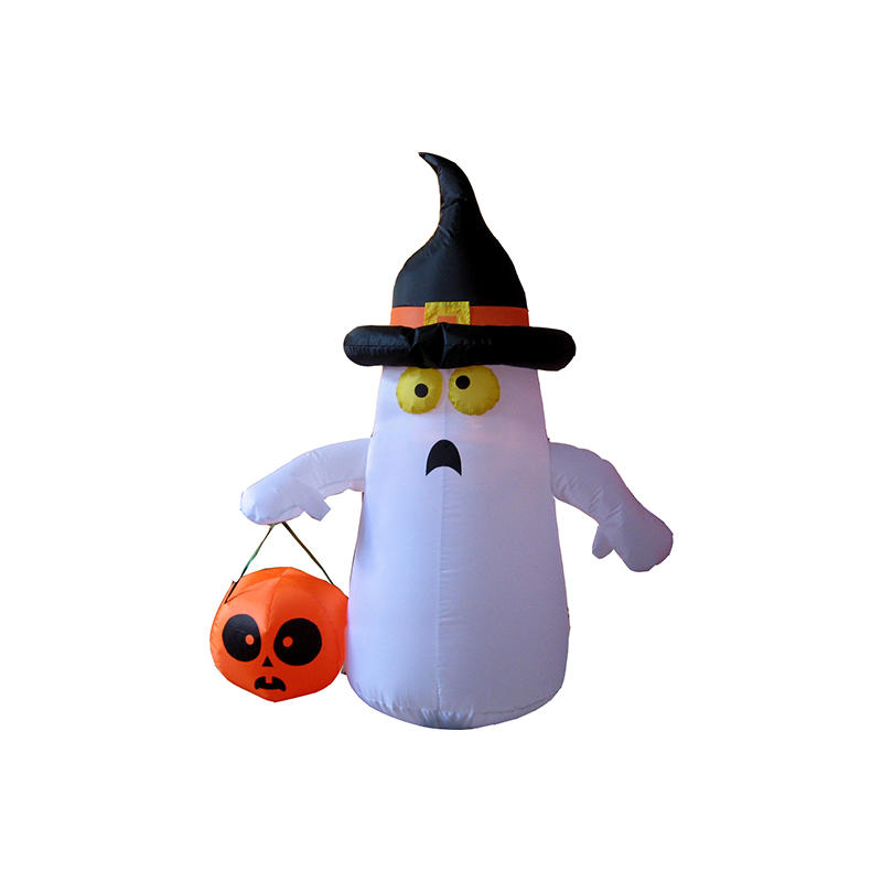 Halloween inflatable White Ghost w/ Pumpkin YL3008QG-09
